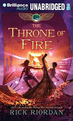 The Throne of Fire (Kane Chronicles) Rick Riordan, Kevin R. Free and Katherine Kellgren