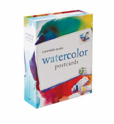 Watercolor Postcards: A Portable Studio [With 10 Postcards and Paint Brush and 4 Paint Tubes] 9781452101385