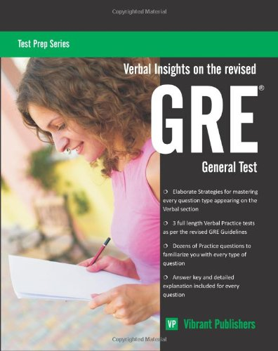 Verbal Insights on the Revised GRE General Test 9781461152750