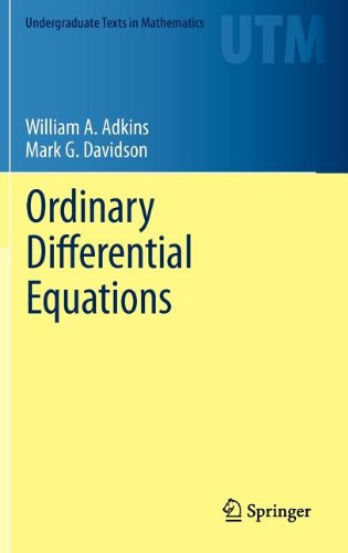 Ordinary Differential Equations 9781461436171