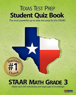 Texas Test Prep Student Quiz Book Staar Math Grade 3 9781463572846