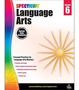 Spectrum   Language Arts Workbook   6th Grade, 184pgs