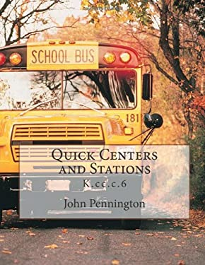 Quick Centers and Stations: ccss math content K.cc.c.6