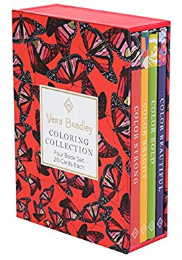 Vera Bradley Coloring Collection (Design Originals) 4 Book Set with Slipcase includes Beautiful, Bold, Bright, & Strong: 80 Authentic Designs on High-
