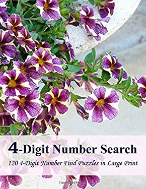 4-Digit Number Search: 120 4-Digit Number Find Puzzles in Large Print