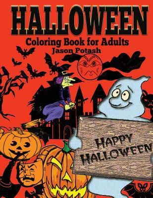 Halloween Coloring Book For Adults (The Stress Relieving Adult Coloring Pages)