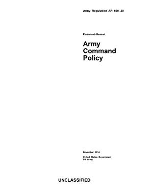 Army Regulation AR 600-20 Army Command Policy November 2014
