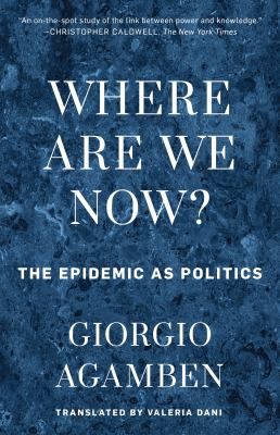 Where Are We Now?: The Epidemic as Politics