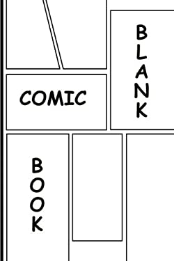Blank comic book with templates