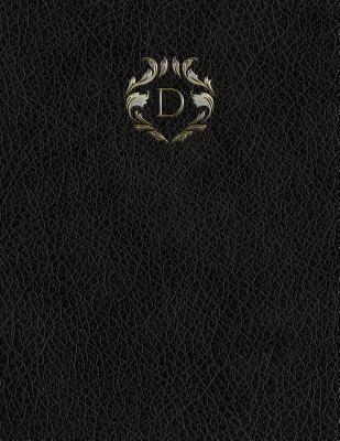 """Monogram """"D"""" Grid Sketchbook (Monogram Black 150 Grid-Sketch) (Volume 4)"""