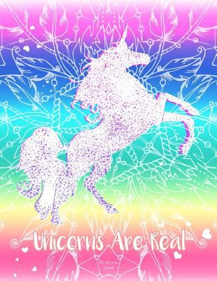 Rainbow Unicorn Notebook (Journal, Diary). Unicorns Are Real: XL 8.5 x 11 Lined (Journals To Write In)