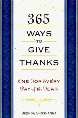365 Ways to Give Thanks 9781559724753