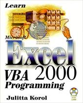 Learn Microsoft Excel VBA 2000 Programming with CDROM 9200149