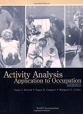 Activity Analysis: Application to Occupation 9781556426766