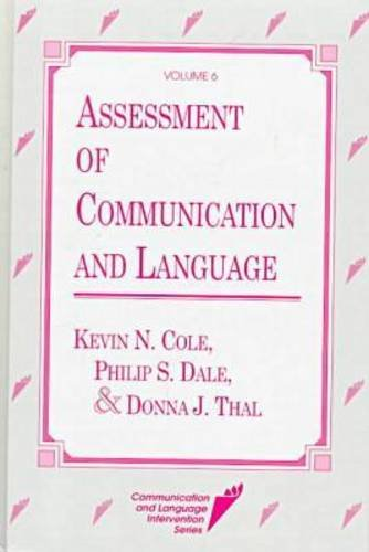 Assessment of Communication and Language 9781557661937