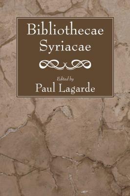 Bibliothecae Syriacae 9781556357145