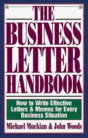 Business Letter Handbook 9781558506145