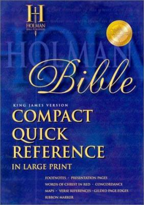 Compact Quick Reference Bible-KJV-Large Print by Broadman