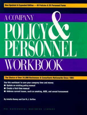 Company Policy & Personnel Workbook 9781555713652