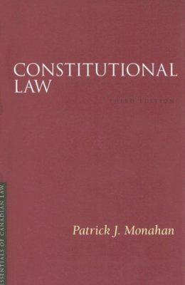 Constitutional Law 9781552211281