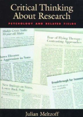 Critical Thinking about Research: Psychology and Related Fields 9781557984555