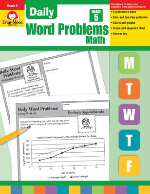 Daily Word Problems, Grade 5 Math
