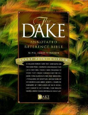 Dake Annotated Reference Bible-KJV-Large Print 9781558291218