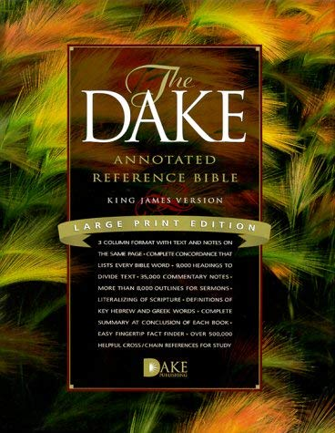 Dake Annotated Reference Bible-KJV-Large Print 9781558291225