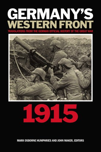 Germany's Western Front: Translations from the German Official History of the Great War, Volume II: 1915 9781554580514