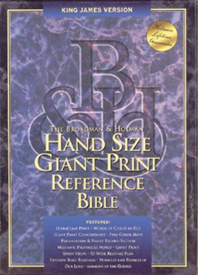 Hand Size Giant Print Reference Bible-KJV 9781558197848