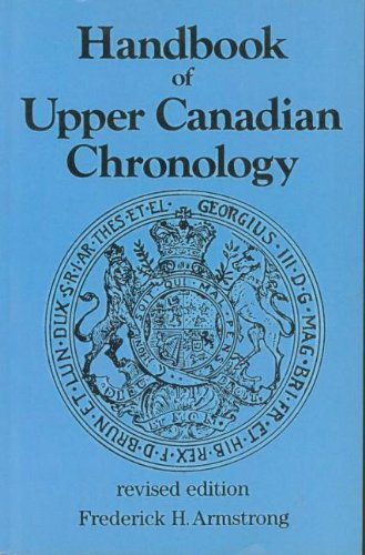 Handbook of Upper Canadian Chronology 9781550025439