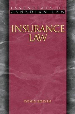 Insurance Law 9781552210901