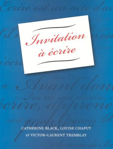 Invitation A Ecrire 9781551302416