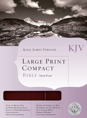 Large Print Compact Bible-KJV-Snap Flap 9781558198814