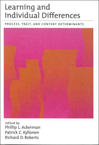 Learning and Individual Differences: Process, Trait, and Content Determinants 9781557985361