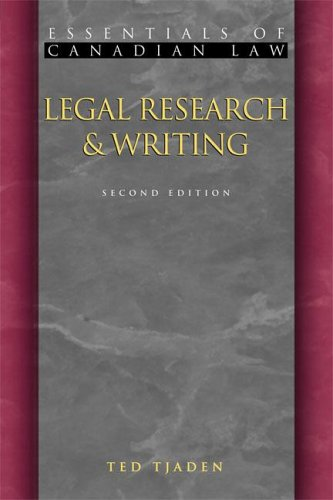 Legal Research and Writing 9781552210987