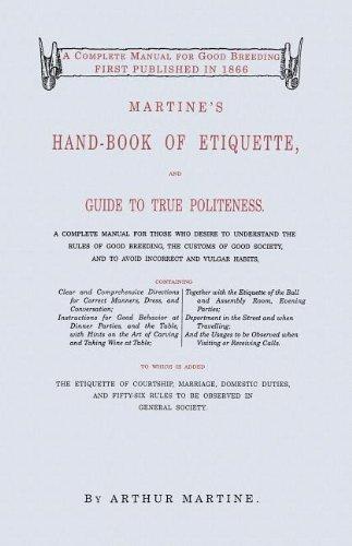 Martine's Handbook of Etiquette 9781557094292