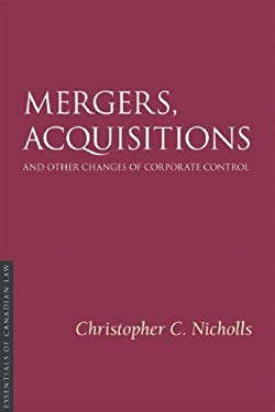 Mergers, Acquisitions, and Other Changes of Corporate Control 9781552211373