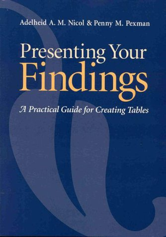Presenting Your Findings: A Practical Guide for Creating Tables 9781557985934