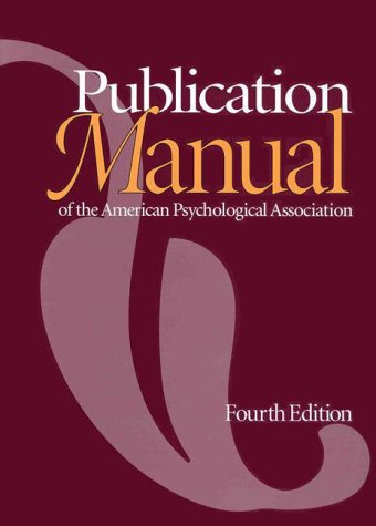 Publication Manual of the American Psychological Association 9781557982438