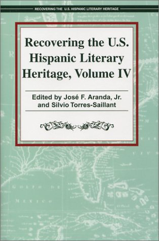 Recovering the U.S. Hispanic Literary Heritage 9781558853614