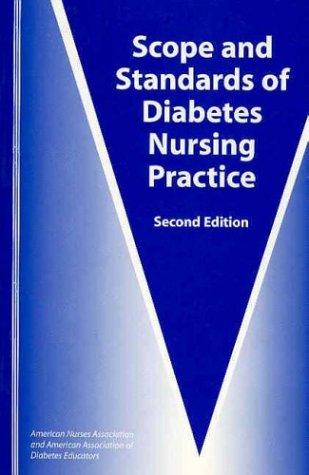 Scope and Standards of Diabetes Nursing Practice 9781558102125