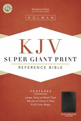 Super Giant Print Reference Bible-KJV 9781558196346