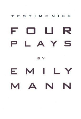 Testimonies: Four Plays 9781559361170