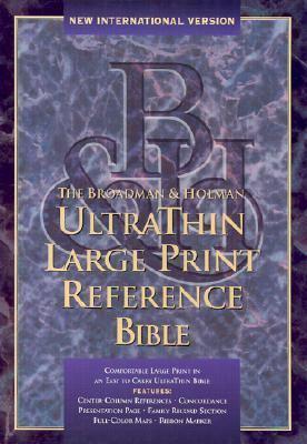 Ultrathin Large Print Reference Bible-NIV 9781558196018