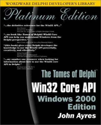 WIN32 Core API Windows 2000 [With CDROM] 9781556227509