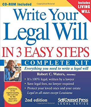Write Your Legal Will in 3 Easy Steps 9781551805955