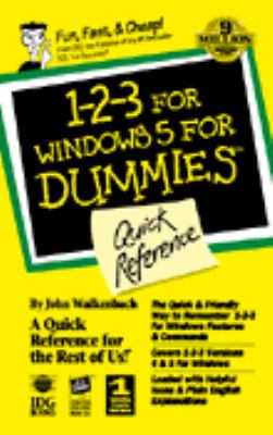 1-2-3 for Windows 5 for Dummies, Quick Reference 9781568849577