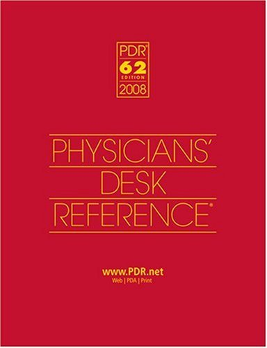 2008 Physicians' Desk Reference (Library/Hospital Version) 9781563636608