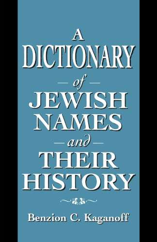 A Dictionary of Jewish Names and Their History 9781568219530